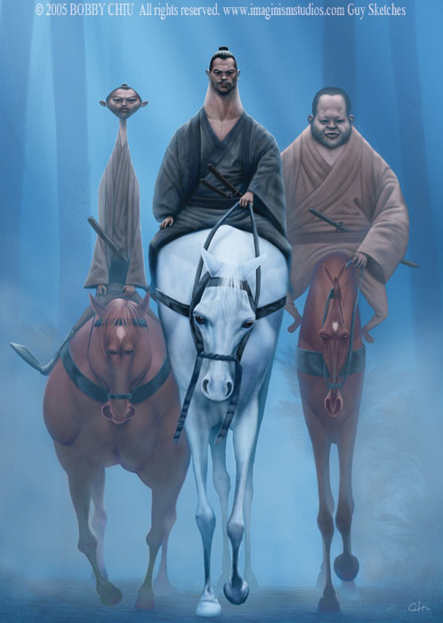 3_Samurai_on_Horseback_by_bobbychiu